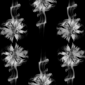 Black Smoking Flowers