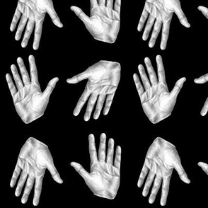 Hands on Black - Smaller Scale