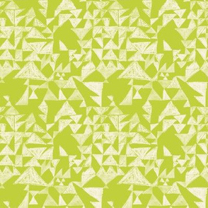 Textured triangle in lime green