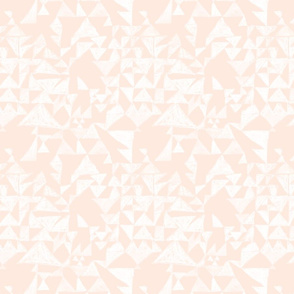 Textured triangles in coral and white