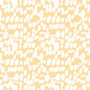 polka dot tangerine brush stroke spots