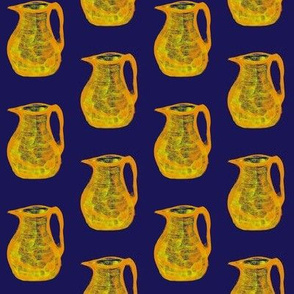 Jugs of Citrus Juice on Evening Sky Blue - Small Scale