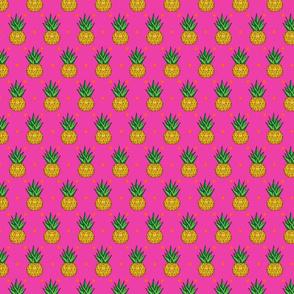 Geo Pineapple on Polka Dots