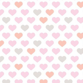 Abstract hearts sweet love valentine wedding theme in pastel peach pink