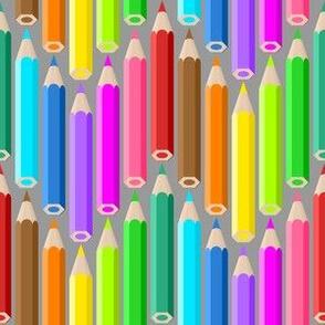 coloured pencil zigzag