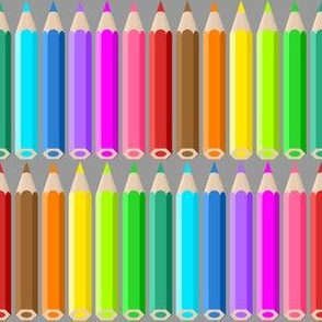 coloured pencil rows