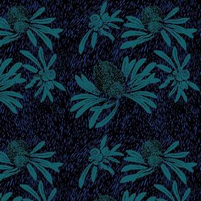 banksia bark - deep Pacific
