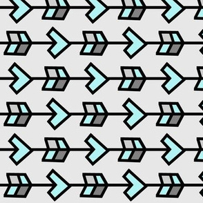 Arrow Design >> Geometric Mod Baby Nursery Kids >> Turquoise and Grey
