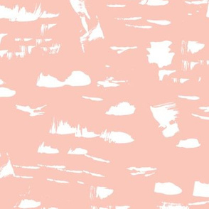 Messy paint marble spots and dots abstract marble paint in blush peach pink