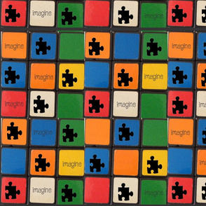 Autism Puzzle Pieces Mosaic