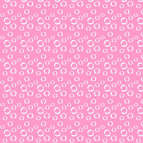 pink with white circles