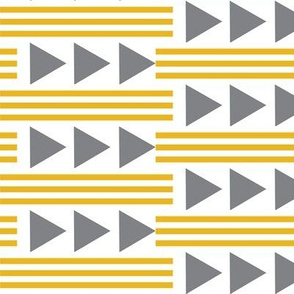 mustard stripes and gray arrows