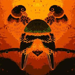 Love Birds in Brown