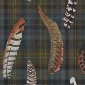 Custom Feathers on Plaid