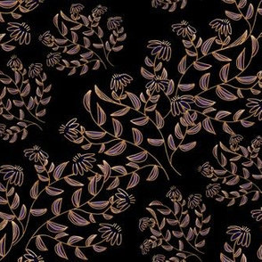 Purple Bronze Flower Stripe