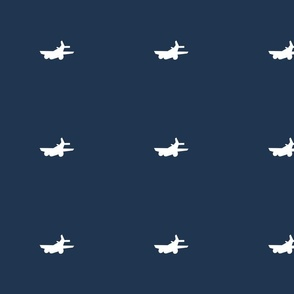 Vintage airplanes in navy