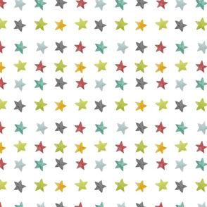 Rainbow Watercolor Stars