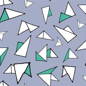 Geometric Paper Planes Half Drop Repeat