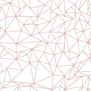 Dancing Geometric Pink Triangles - Salmon