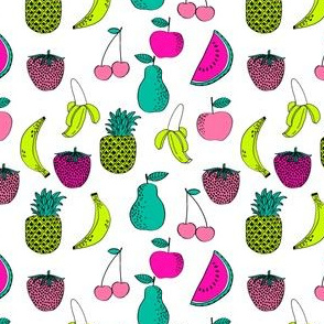 fruit // fruits summer tropical pineapple exotic tropical bright kids summer girls small print
