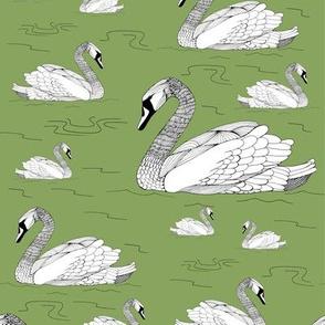 Swans Leaf Green