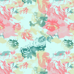 Watercolour Roses Sky