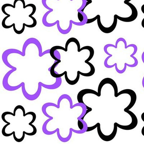 Purple Black Floral Flower