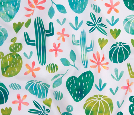 Cacti in watercolors