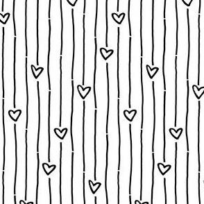 black white striped heart