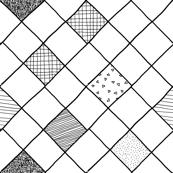 black white grid texture