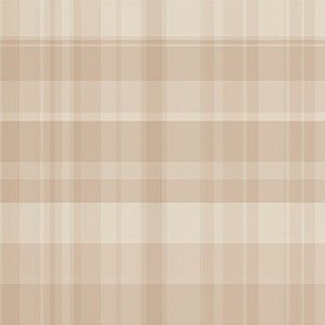 Subtle Camel and Beige Plaid