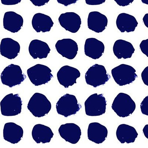 dots jumbo big dots spots indigo summer tropical dye hand-drawn painted painterly artist dots