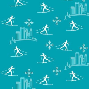 Minneapolis Skier, turquoise