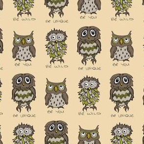 Be You - Owls (Green Accent)