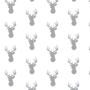 Deer- Med grey/white-