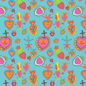 Hearts-aqua