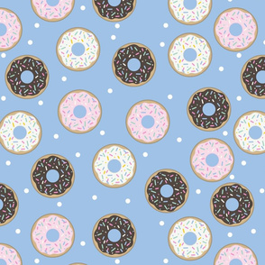 Donuts Blue with white confetti