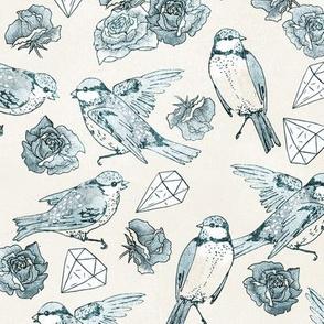 Bluebirds + Gems