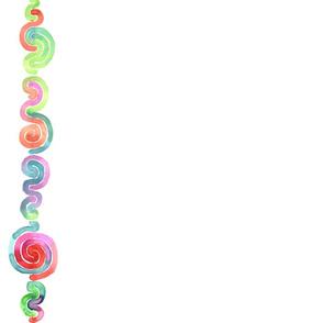 Watercolor Spiral Border