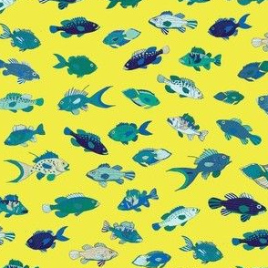Tropical Fish - Blue and Lemon