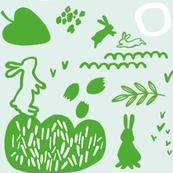 playing_rabbits_green