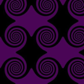 Black and Purple Swirls