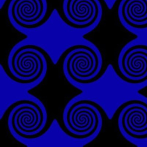 Black and Blue Spirals
