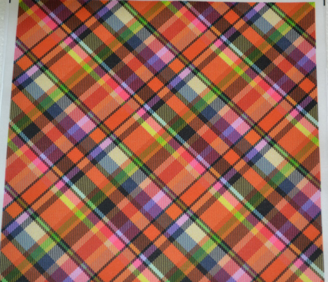 Mostly Orange Madras Plaid
