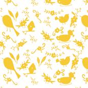 Garden Shadows in Yellow