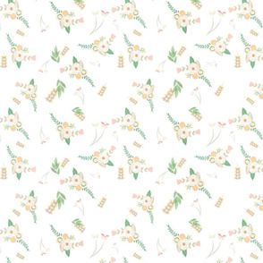 Soft Floral - White