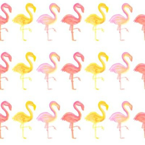 Flamingo Fantasy Water Color Painting Pattern