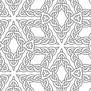 Celtic Boxes Black and White Coloring In
