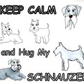 KEEP CALM hug my schnauzer