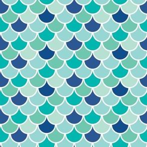 Aqua Mermaid Scales